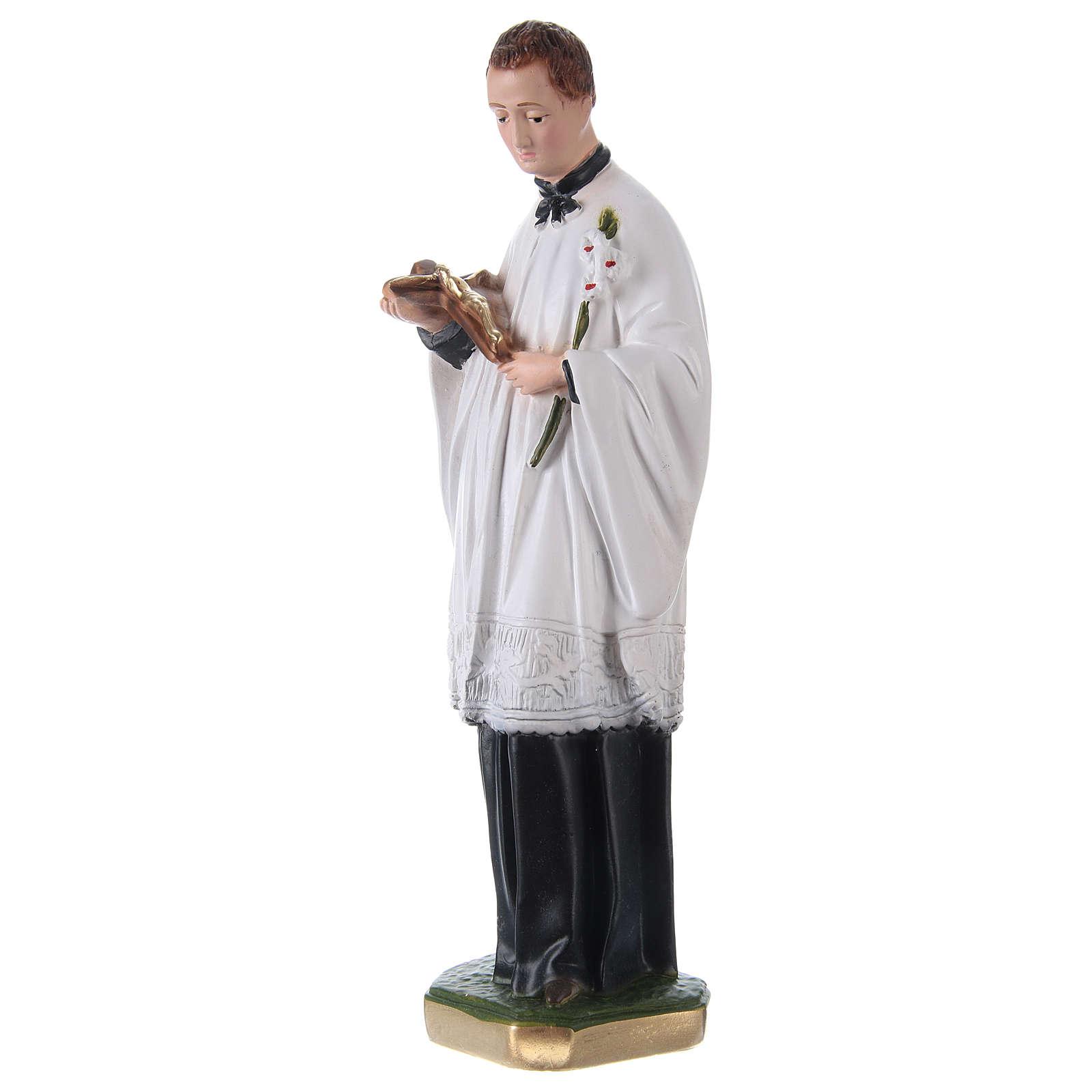 Statua San Luigi Gonzaga gesso h 30 cm 4