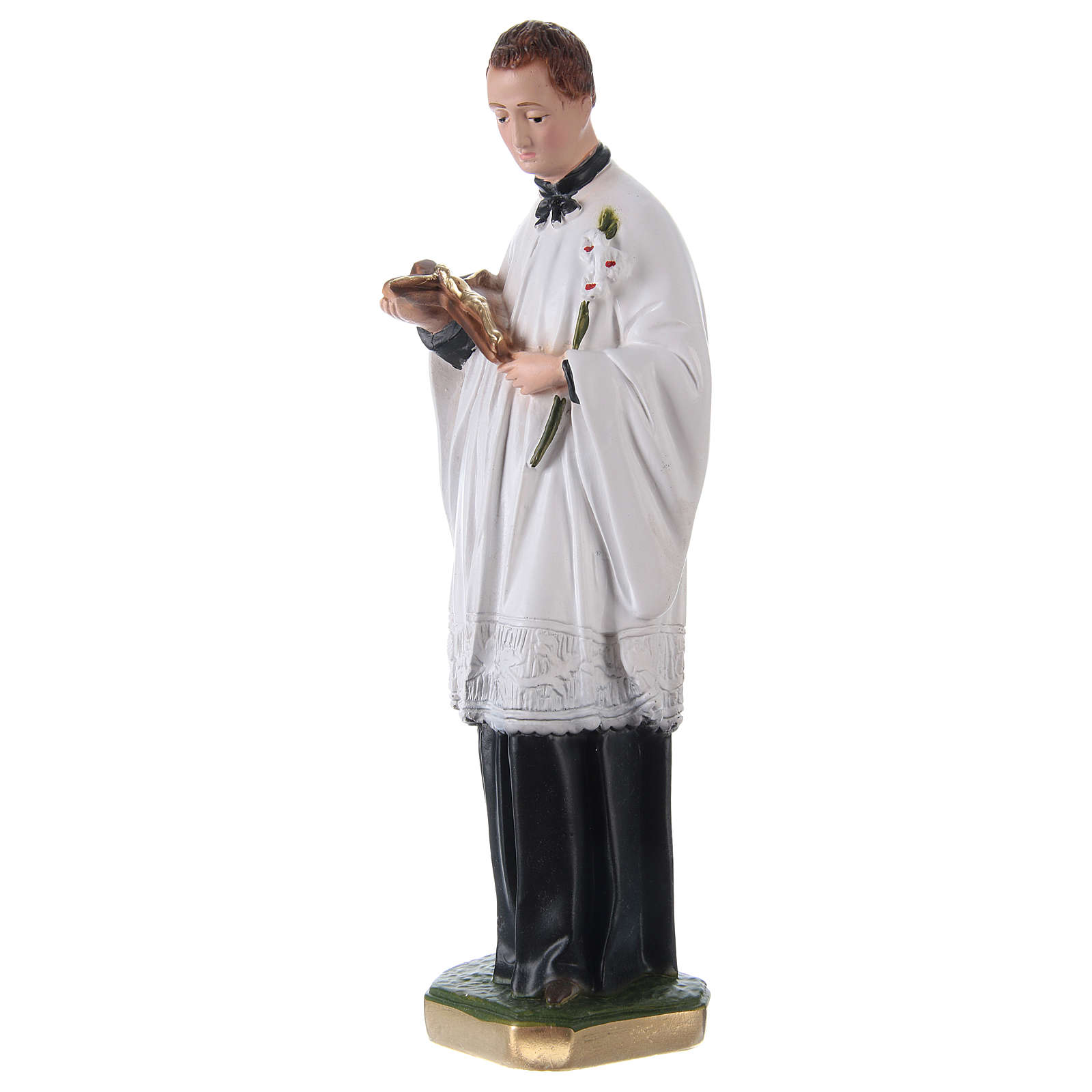 Saint Louis de Montfort Statue, 30 cm in plaster 4