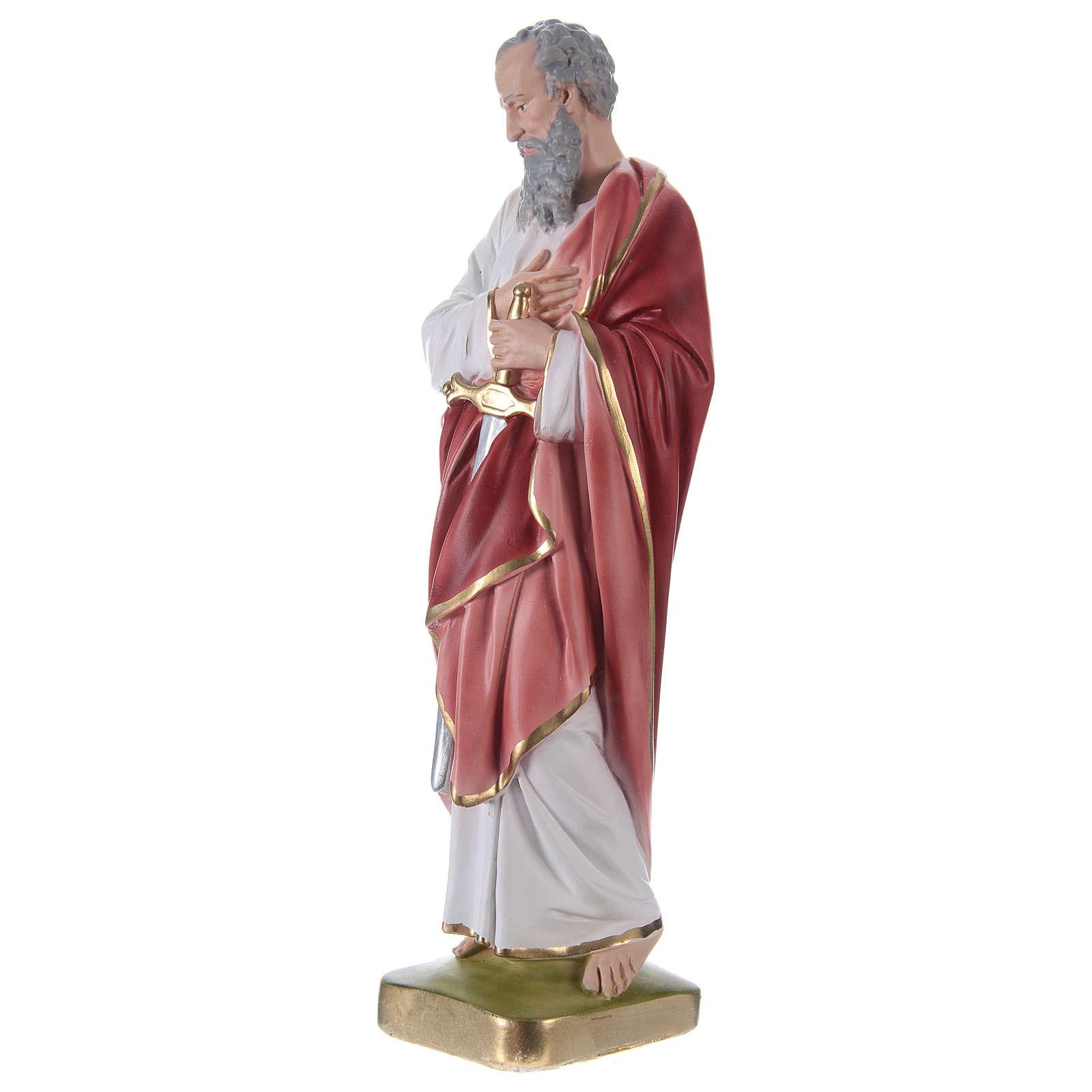 Saint Paul Plaster Statue, 35 cm hand painted 4