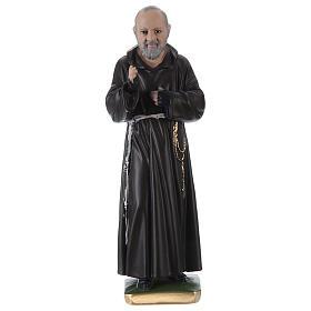 Estatua de yeso Padre Pío 30 cm s1