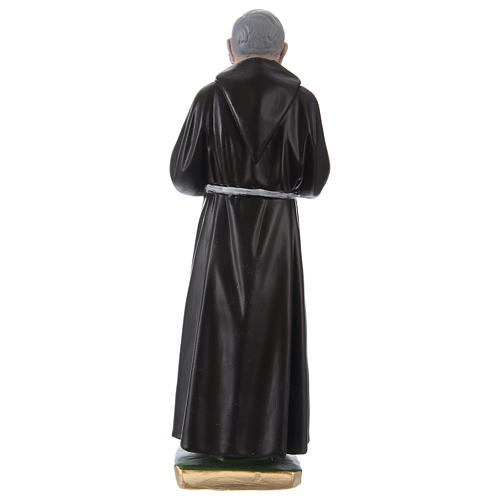 Estatua de yeso Padre Pío 30 cm 4