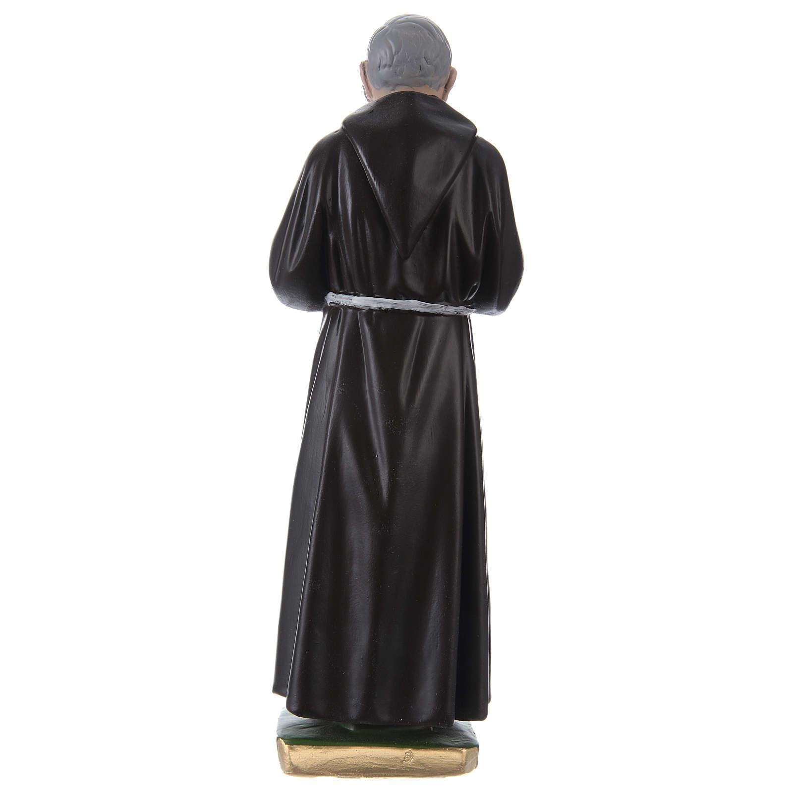 Statue en plâtre Padre Pio 30 cm 4