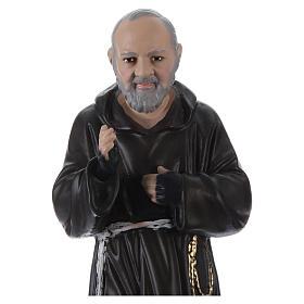 Statue en plâtre Padre Pio 30 cm s2