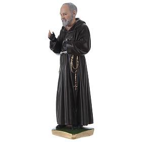 Statue en plâtre Padre Pio 30 cm s3