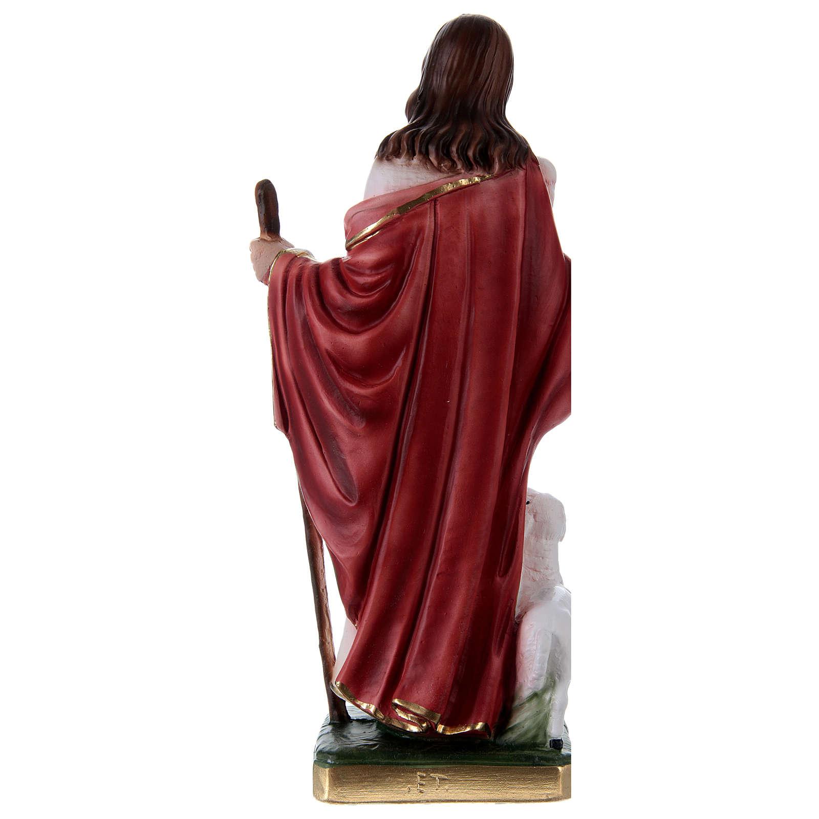 Jesús Buen Pastor 30 cm estatua de yeso 4