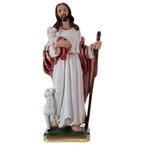 Jesús Buen Pastor 30 cm estatua de yeso 1