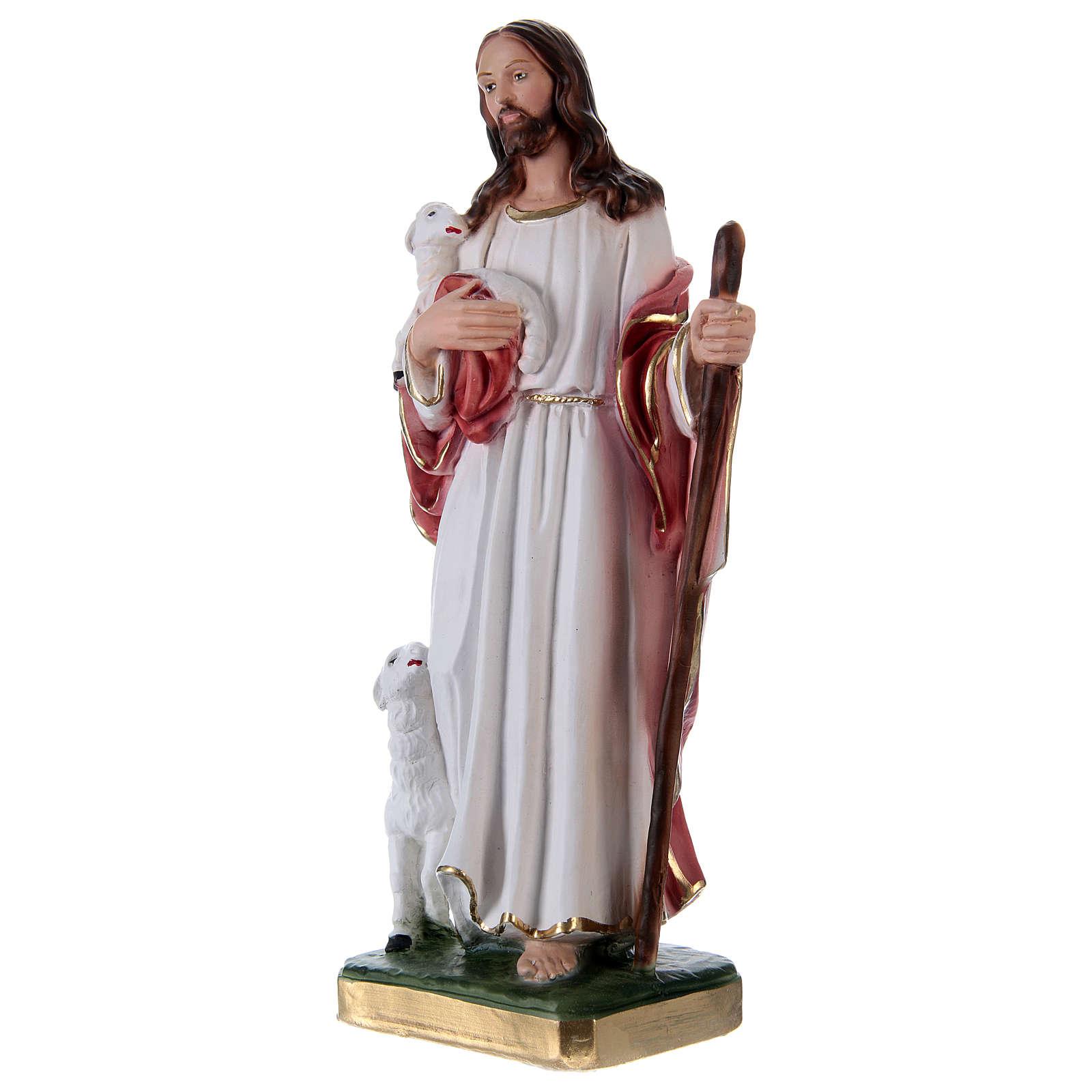 Jésus Bon Pasteur 30 cm statue en plâtre 4