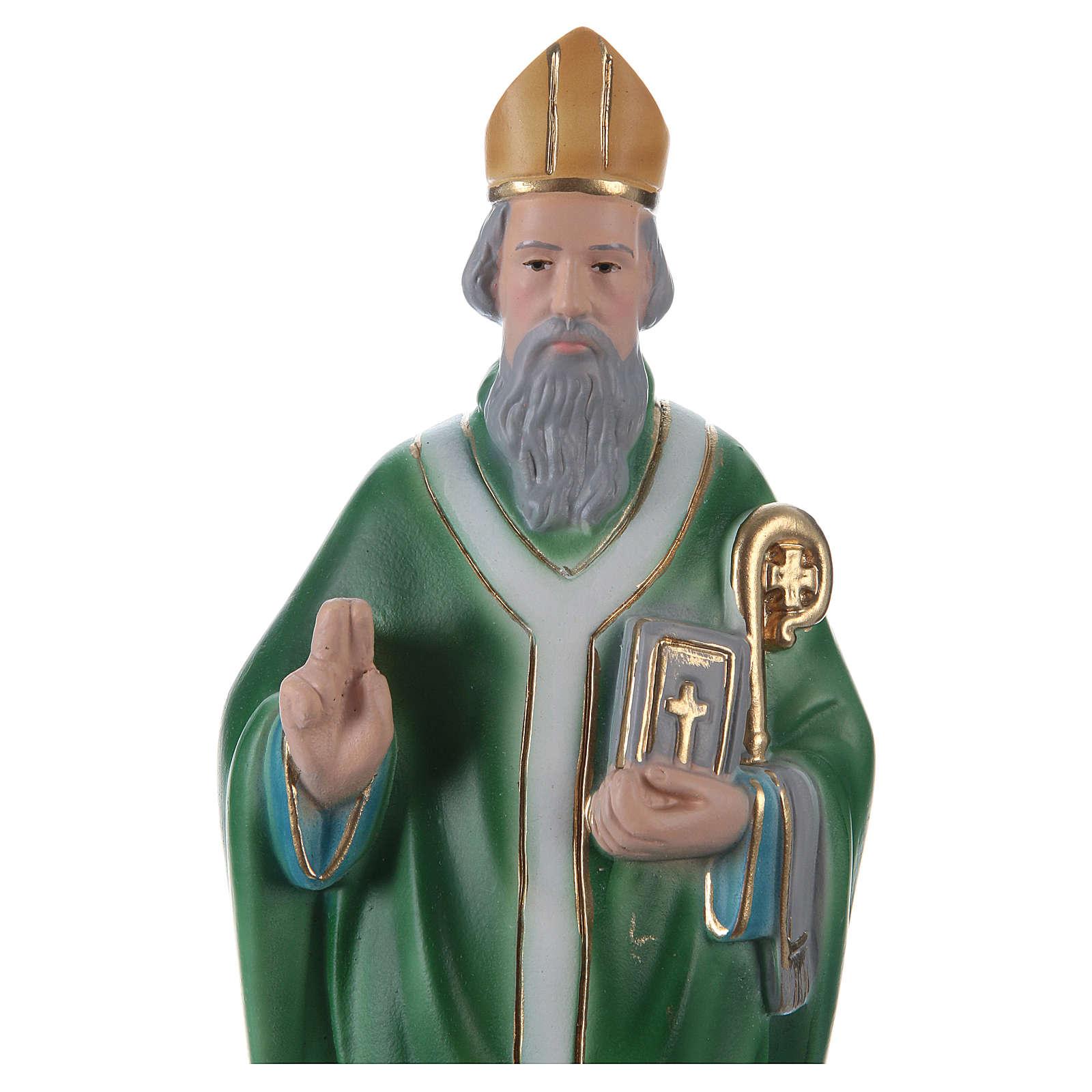 San Patrizio 30 cm statua in gesso 4