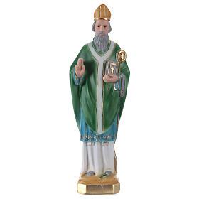 San Patrizio 30 cm statua in gesso s1