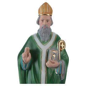 San Patrizio 30 cm statua in gesso s2