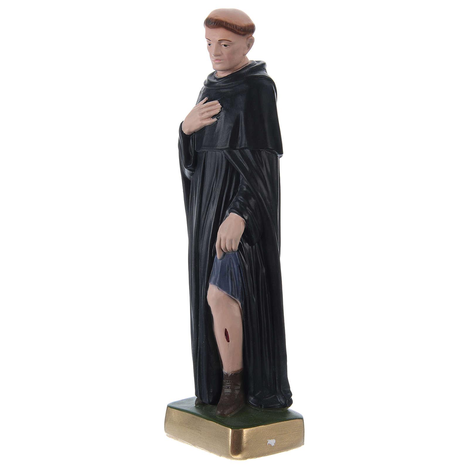 St. Peregrine Statue, 30 cm in plaster 4