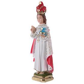 Statue en plâtre Enfant Jésus de Prague 30 cm s3