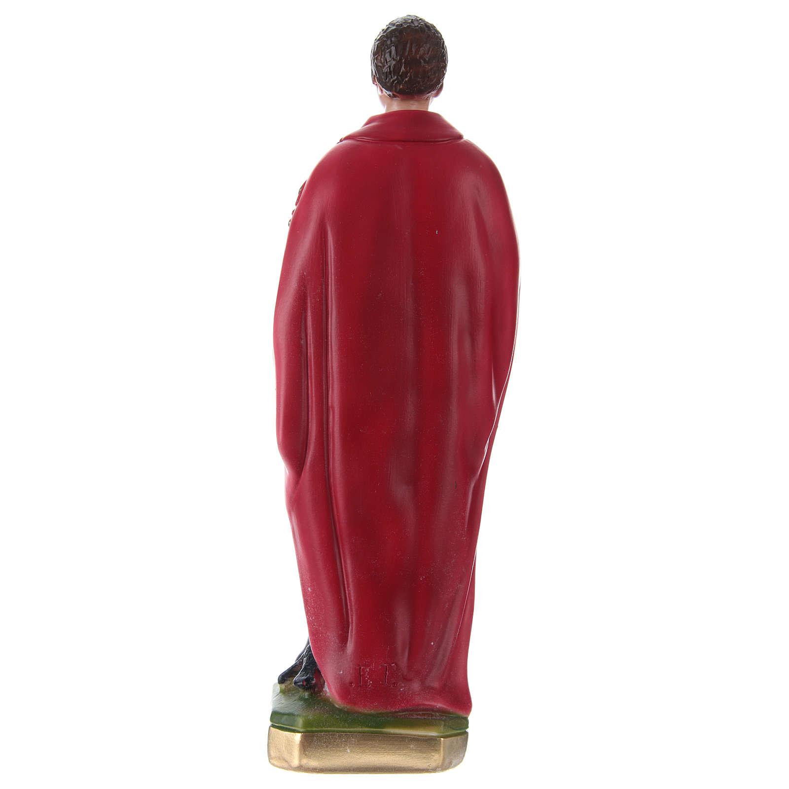 Saint Expédit 30 cm statue en plâtre 4