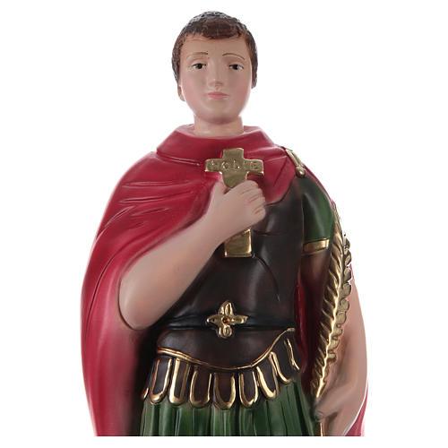 Saint Expédit 30 cm statue en plâtre 2