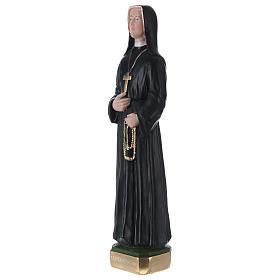 Statua in gesso dipinto Suor Faustina 30 cm s3