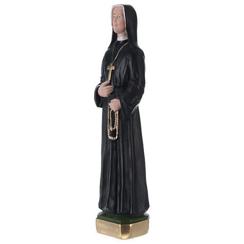 Statua in gesso dipinto Suor Faustina 30 cm 3