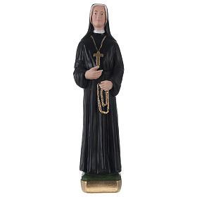 Imagens em Gesso: Imagem em gesso pintado Santa Faustina 30 cm
