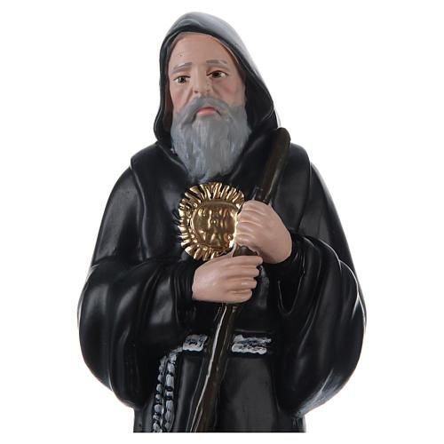 San Francisco de Paula 30 cm estatua de yeso 2