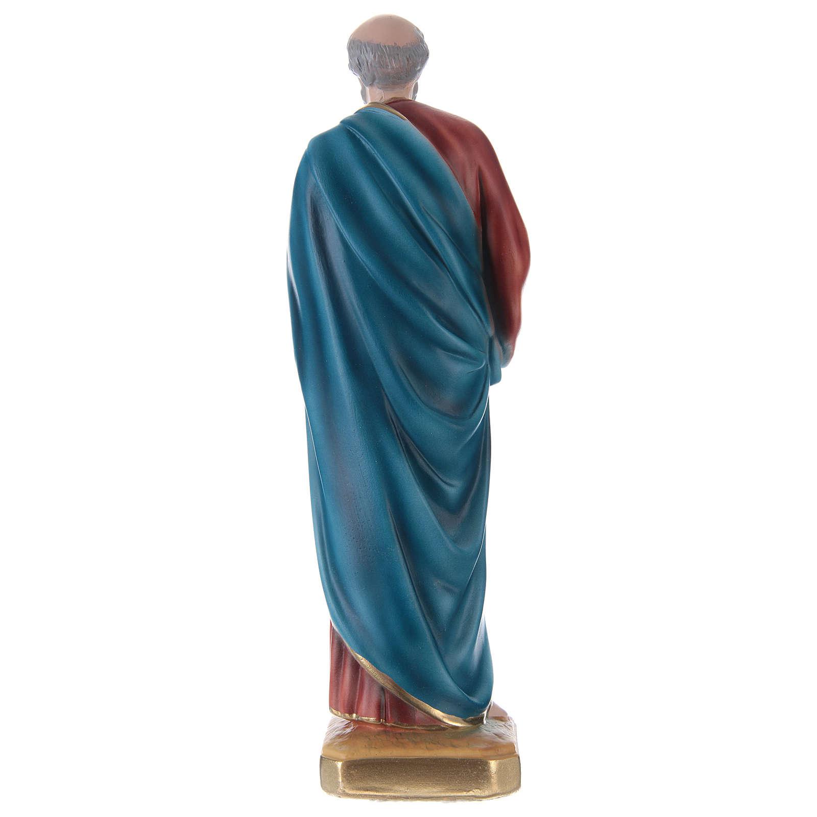 Estatua de yeso San Pedro 30 cm 4