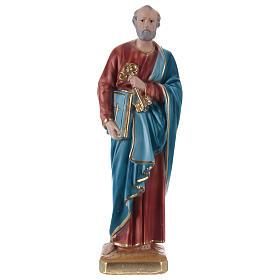 Statue en plâtre Saint Pierre 30 cm s1