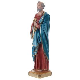 Statue en plâtre Saint Pierre 30 cm s3