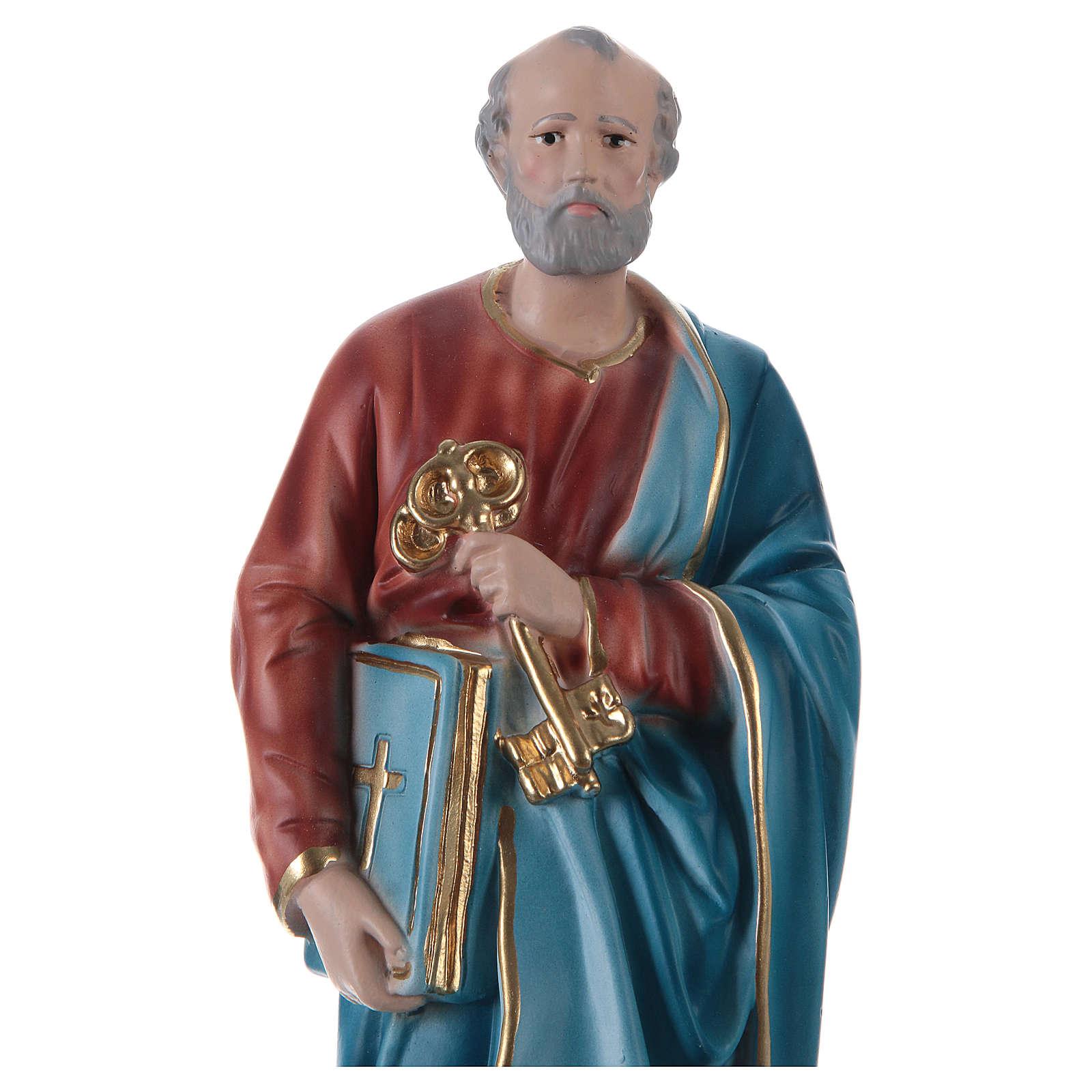 Figura z gipsu Święty Piotr 30 cm 4