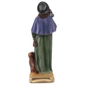 Saint Roch 30 cm statue plâtre s4