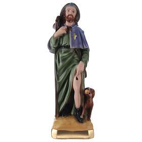 San Rocco 30 cm statua gesso s1