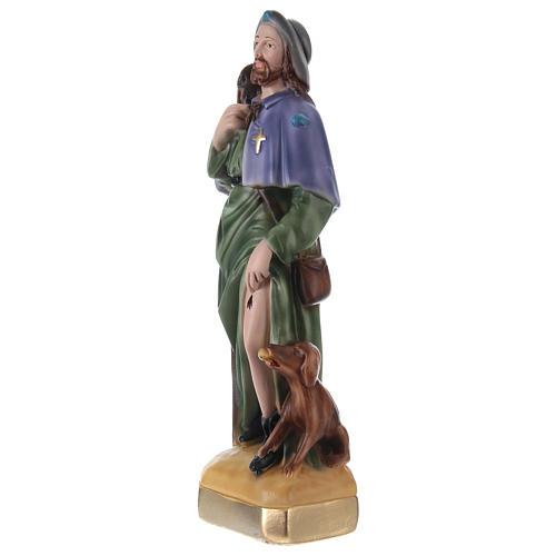 San Rocco 30 cm statua gesso 3