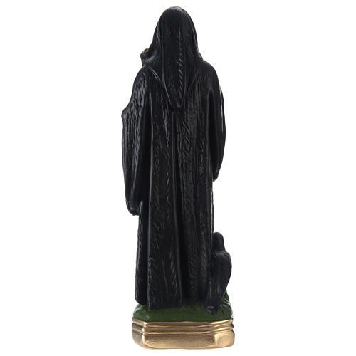 Statua gesso dipinto San Benedetto 30 cm  4