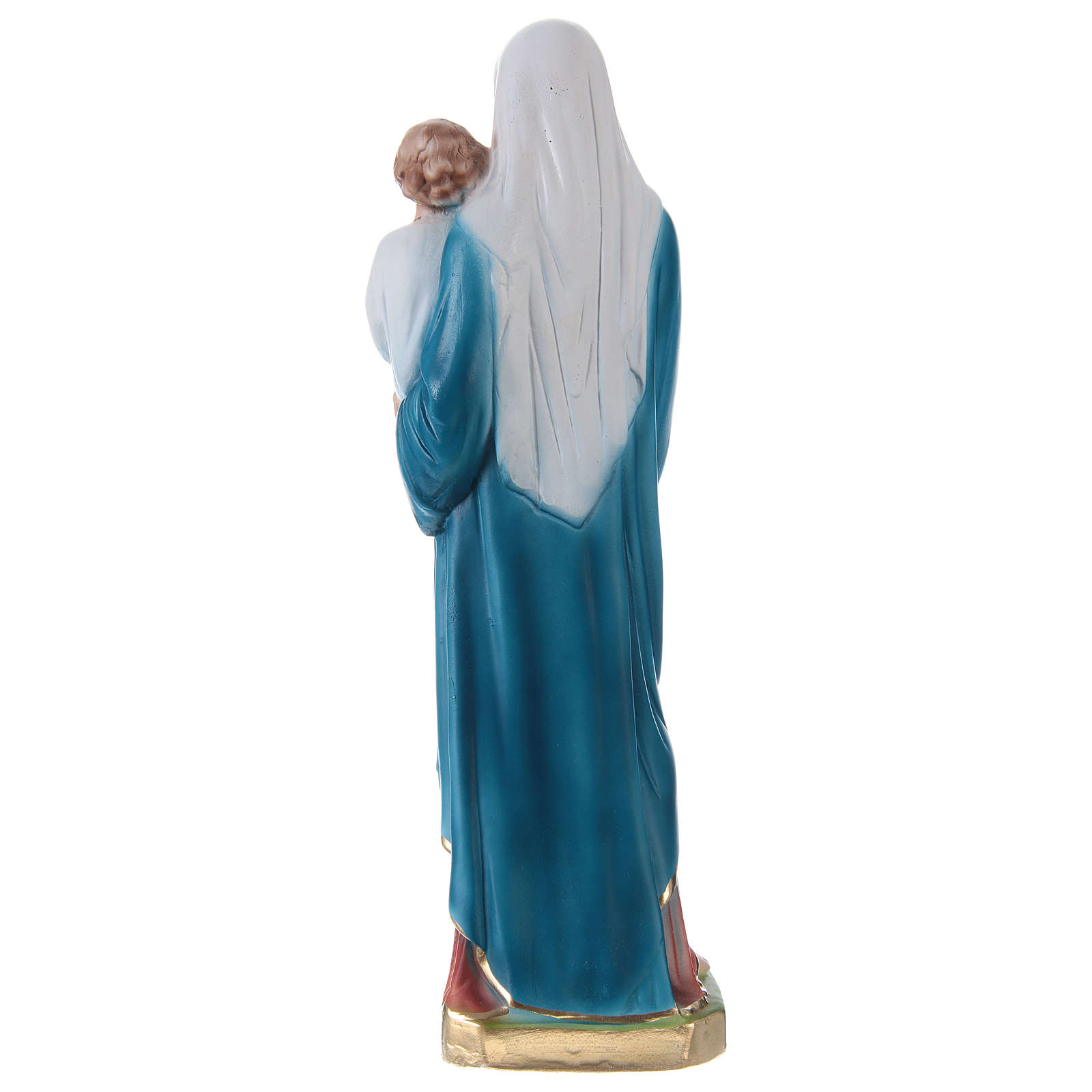 Madonna and Blessing Child Statue, 30 cm in painted plaster 4