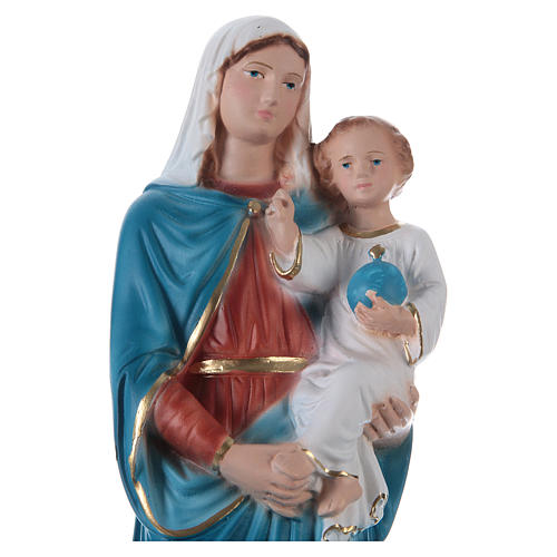 Madonna and Blessing Child Statue, 30 cm in painted plaster 2