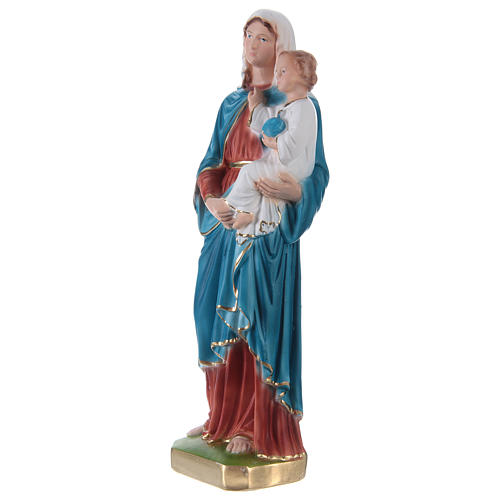 Madonna and Blessing Child Statue, 30 cm in painted plaster 3