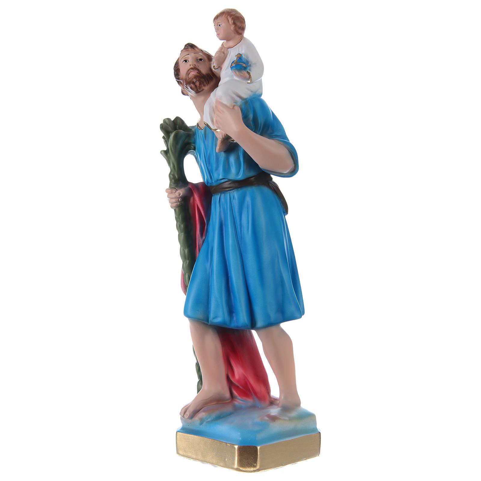 San Cristoforo 30 cm statua gesso dipinto 4