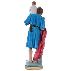 San Cristoforo 30 cm statua gesso dipinto s4