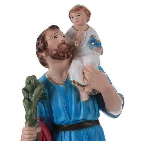 San Cristoforo 30 cm statua gesso dipinto 2
