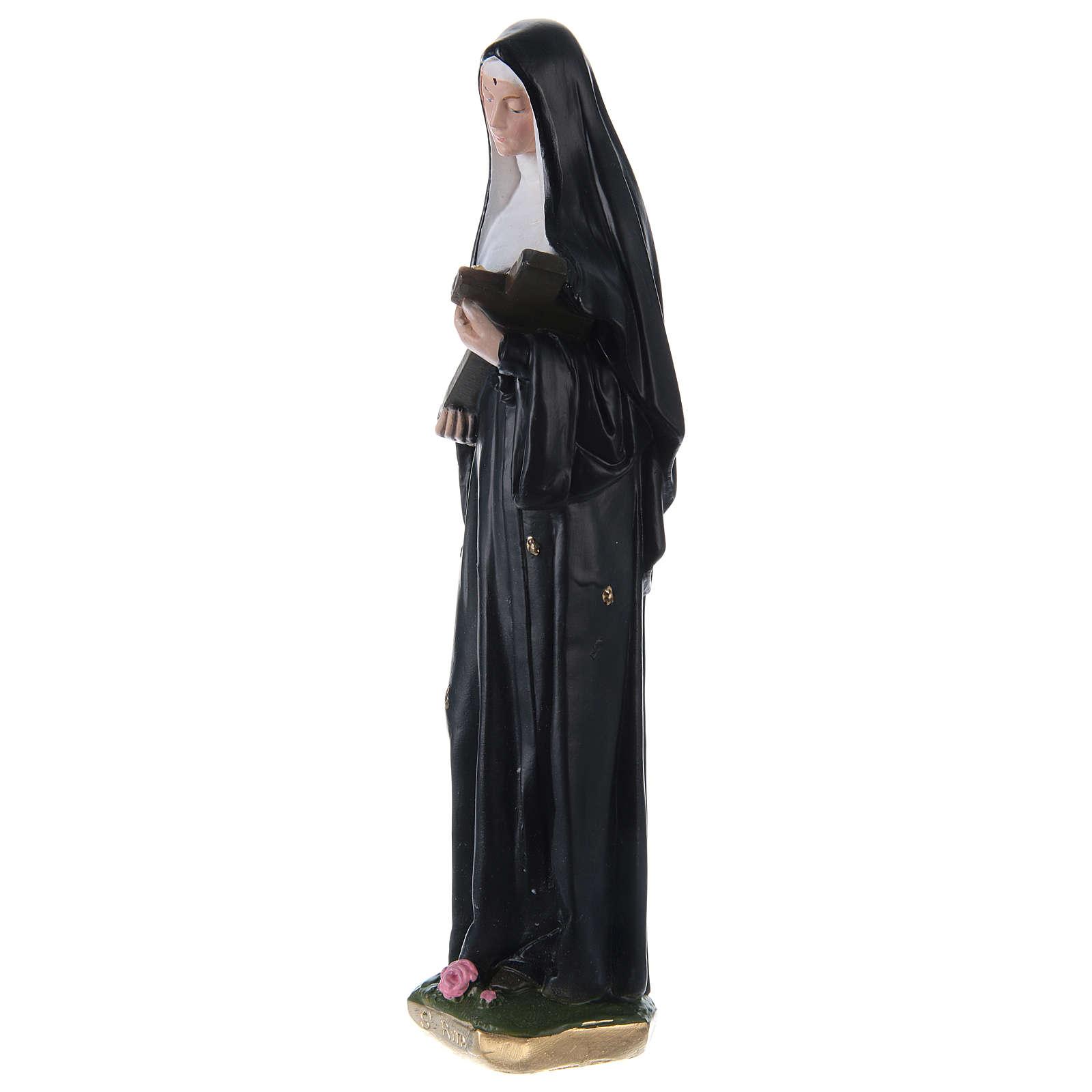 Santa Rita 30 cm statua in gesso dipinto 4