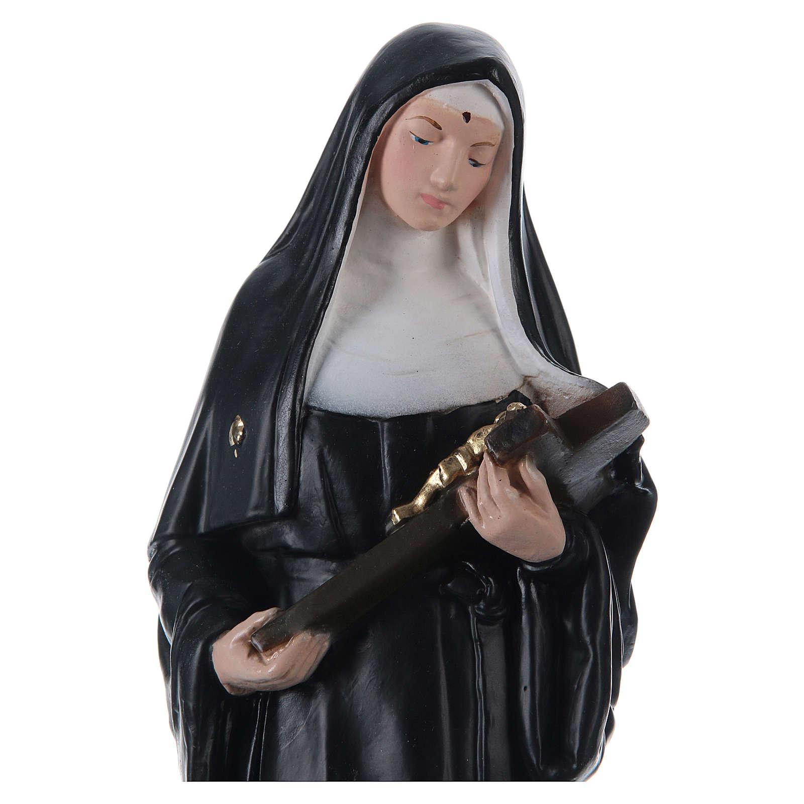 Santa Rita 30 cm imagem gesso pintado 4