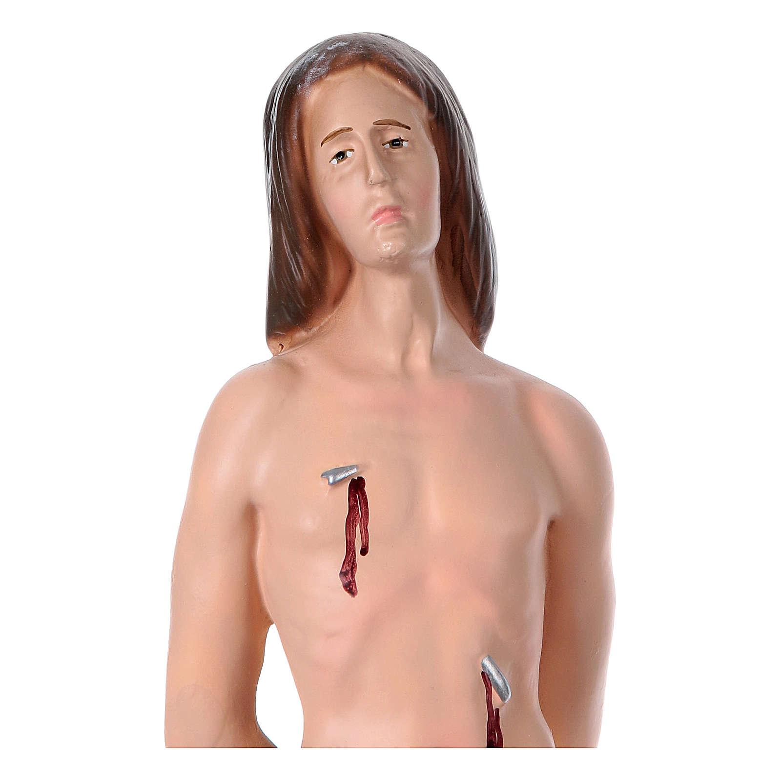 Statua in gesso San Sebastiano 35 cm 4