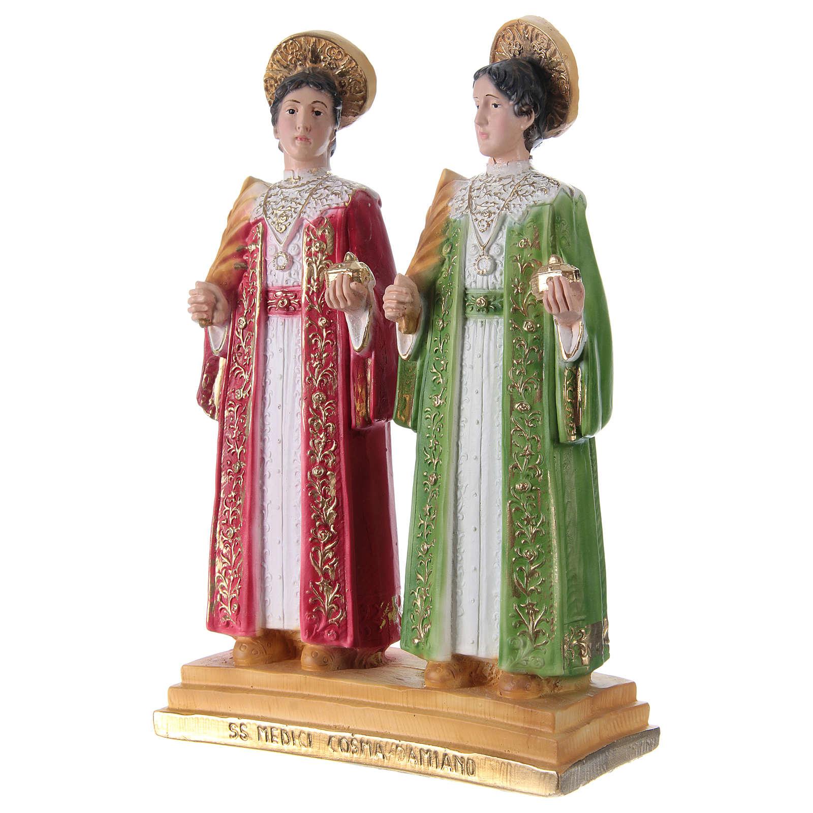 Côme et Damien 30 cm statue en plâtre 4
