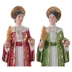 St. Cosmas and St. Damian Statues, cm 30 in plaster s2