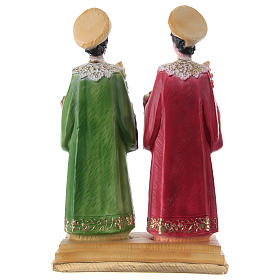 St. Cosmas and St. Damian Statues, cm 30 in plaster s4