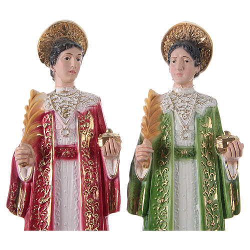 St. Cosmas and St. Damian Statues, cm 30 in plaster 2