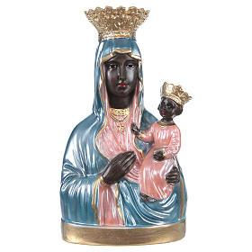 Madonna di Czestochowa 25 cm gesso madreperlato s1