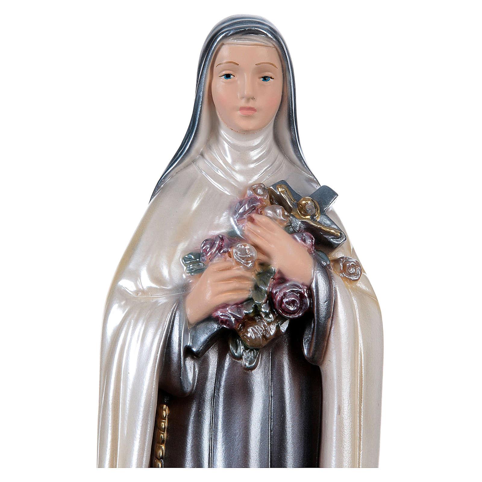 St Teresa 30 cm in mother-of-pearl plaster 4