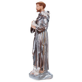 St Francis 30 cm in mother-of-pearl plaster s3