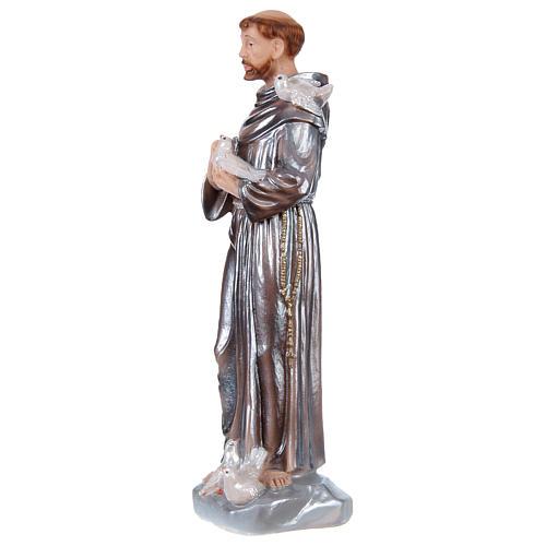 San Francisco 30 cm estatua yeso nacarado 3