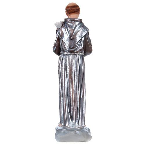San Francisco 30 cm estatua yeso nacarado 5