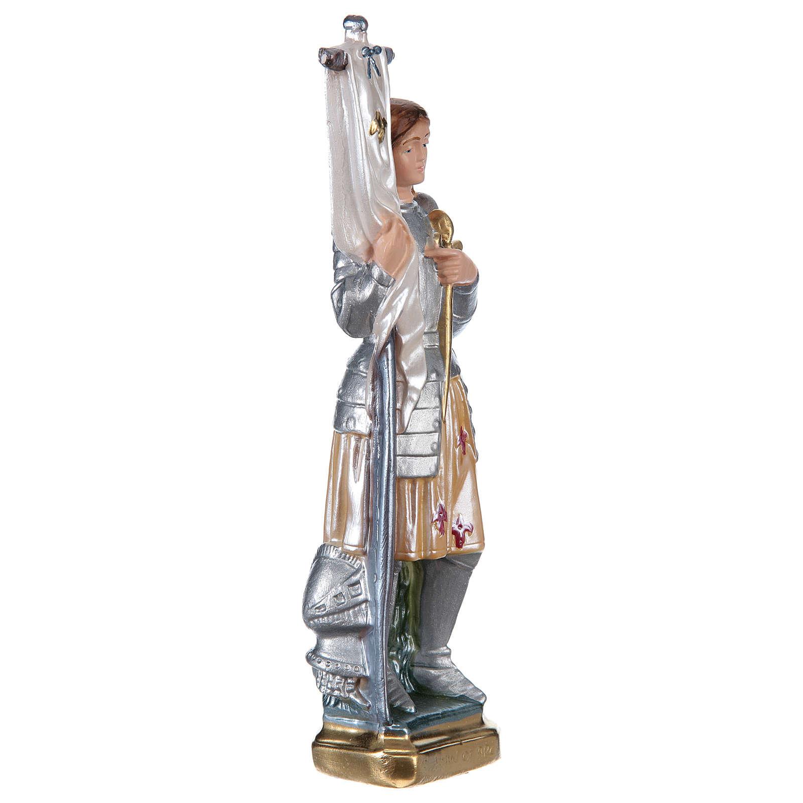 Sainte Jeanne d'Arc statue plâtre nacré 25 cm 4