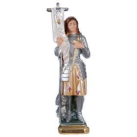 Sainte Jeanne d'Arc statue plâtre nacré 25 cm s1